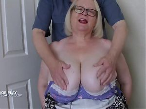 Lucky man gets my big tits in his hands