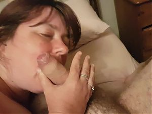 Bbw wife blowjob and facial