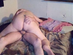 Couple masturbate then fuck with her on top till orgasm (bed)